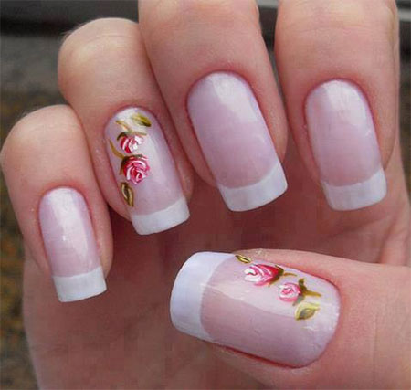simple spring nail art designs ideas trends 2014 for