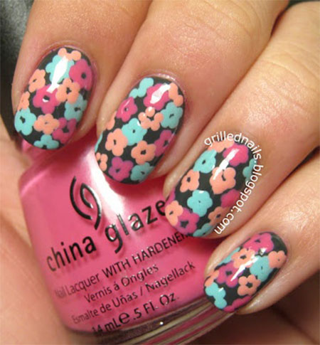 Smashing-Spring-Time-Flower-Nail-Art-Designs-Ideas-Trends-2014-7