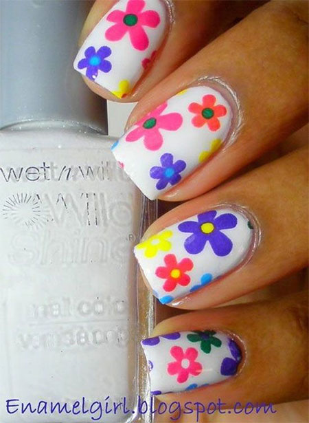 Pictures Of Nail Art Flowers : Summer flower nail designs images