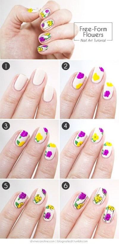 Spring-Summer-Inspired-Nail-Art-Tutorials-2014-For-Beginners-4