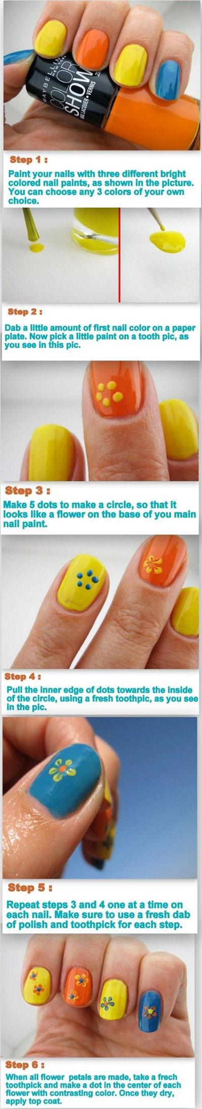 Spring-Summer-Inspired-Nail-Art-Tutorials-2014-For-Beginners-7