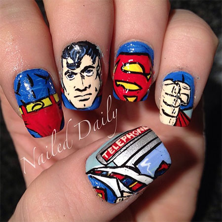 12 easy superman nail art designs ideas trends stickers wraps 12 easy superman nail art designs ideas trends prinsesfo Choice Image