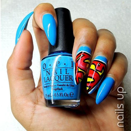 12-Easy-Superman-Nail-Art-Designs-Ideas-Trends-Stickers-Wraps-2014-6