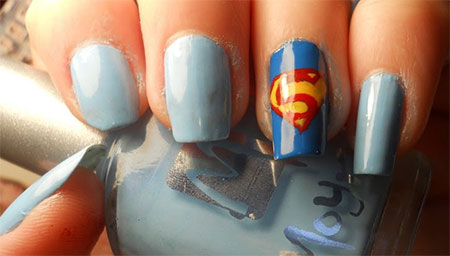 12-Easy-Superman-Nail-Art-Designs-Ideas-Trends-Stickers-Wraps-2014-9