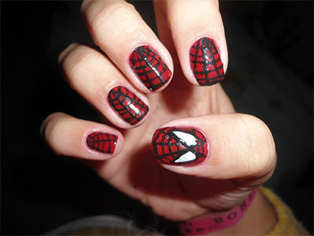 15-Spiderman-Nail-Art-Designs-Ideas-Trends-Stickers-Wraps-2014-11