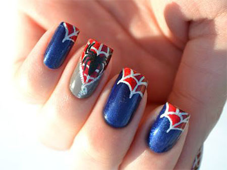 15-Spiderman-Nail-Art-Designs-Ideas-Trends-Stickers-Wraps-2014-13