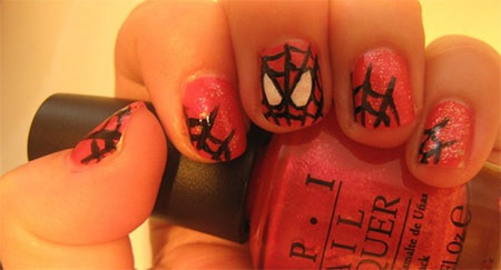 15-Spiderman-Nail-Art-Designs-Ideas-Trends-Stickers-Wraps-2014-14