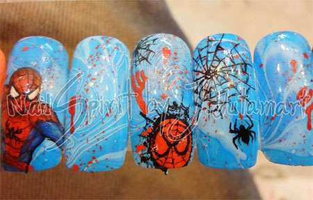 15-Spiderman-Nail-Art-Designs-Ideas-Trends-Stickers-Wraps-2014-16