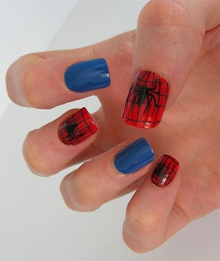 15-Spiderman-Nail-Art-Designs-Ideas-Trends-Stickers-Wraps-2014-17