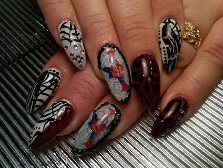 15-Spiderman-Nail-Art-Designs-Ideas-Trends-Stickers-Wraps-2014-3