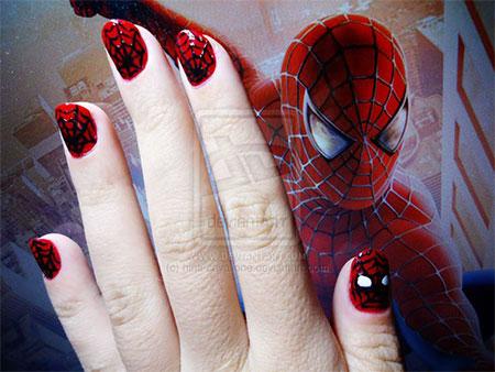 15-Spiderman-Nail-Art-Designs-Ideas-Trends-Stickers-Wraps-2014-4