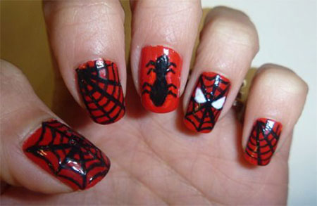 15-Spiderman-Nail-Art-Designs-Ideas-Trends-Stickers-Wraps-2014-6