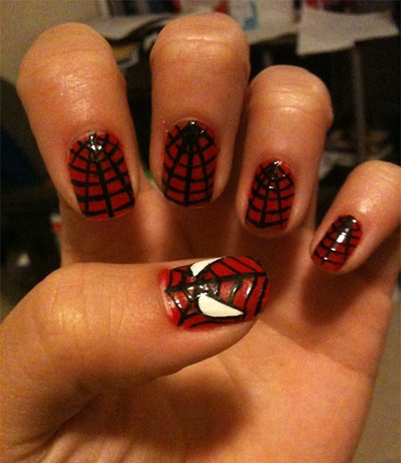 15-Spiderman-Nail-Art-Designs-Ideas-Trends-Stickers-Wraps-2014-8