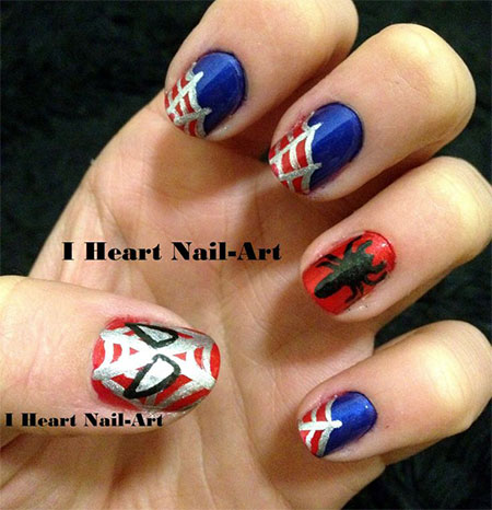 Spiderman nail design gallery nail art and nail design ideas 15 spiderman nail art designs ideas trends stickers wraps 15 spiderman nail art designs ideas trends prinsesfo Choice Image