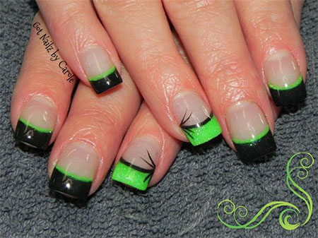 Lime Green And Black Nail Designs 6