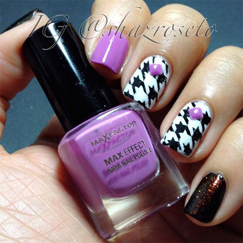50-Best-Houndstooth-Nail-Art-Designs-Ideas-Trends-Stickers-Wraps-2014-11