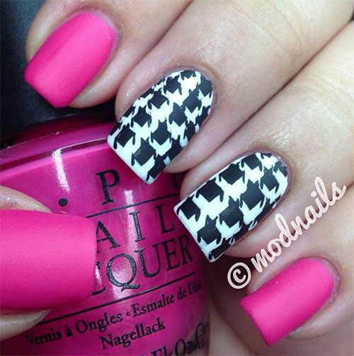 50-Best-Houndstooth-Nail-Art-Designs-Ideas-Trends-Stickers-Wraps-2014-12