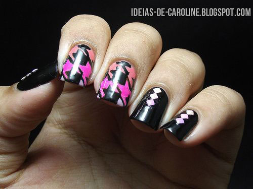 50-Best-Houndstooth-Nail-Art-Designs-Ideas-Trends-Stickers-Wraps-2014-23
