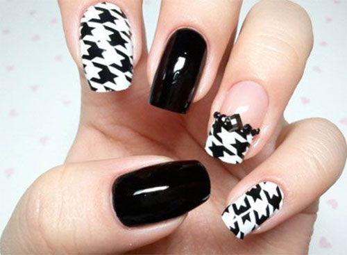 50-Best-Houndstooth-Nail-Art-Designs-Ideas-Trends-Stickers-Wraps-2014-25