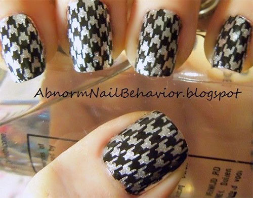 50-Best-Houndstooth-Nail-Art-Designs-Ideas-Trends-Stickers-Wraps-2014-30