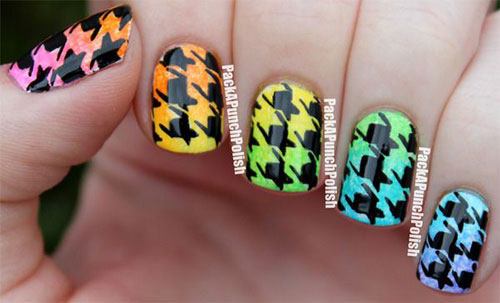 50-Best-Houndstooth-Nail-Art-Designs-Ideas-Trends-Stickers-Wraps-2014-32