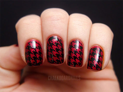 50-Best-Houndstooth-Nail-Art-Designs-Ideas-Trends-Stickers-Wraps-2014-33
