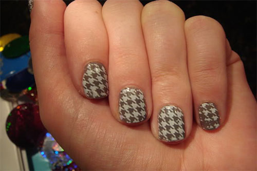 50-Best-Houndstooth-Nail-Art-Designs-Ideas-Trends-Stickers-Wraps-2014-34