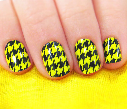 50-Best-Houndstooth-Nail-Art-Designs-Ideas-Trends-Stickers-Wraps-2014-35