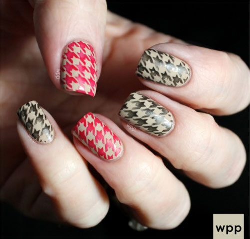50-Best-Houndstooth-Nail-Art-Designs-Ideas-Trends-Stickers-Wraps-2014-36
