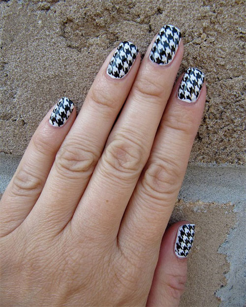 50-Best-Houndstooth-Nail-Art-Designs-Ideas-Trends-Stickers-Wraps-2014-4