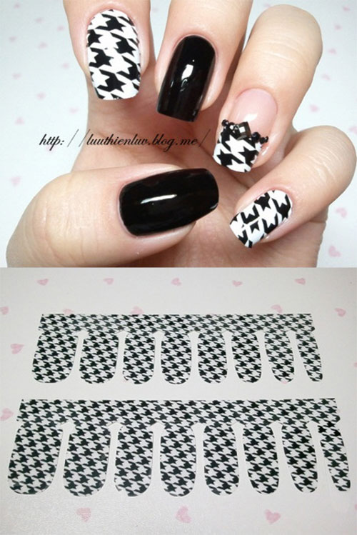 50-Best-Houndstooth-Nail-Art-Designs-Ideas-Trends-Stickers-Wraps-2014-42
