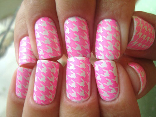 50-Best-Houndstooth-Nail-Art-Designs-Ideas-Trends-Stickers-Wraps-2014-50