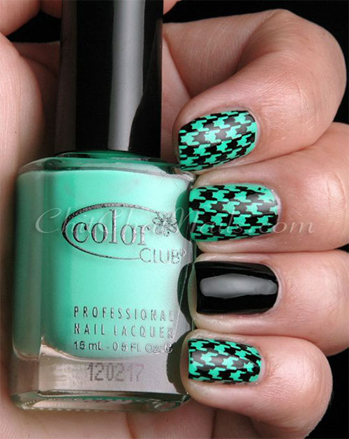 50-Best-Houndstooth-Nail-Art-Designs-Ideas-Trends-Stickers-Wraps-2014-8