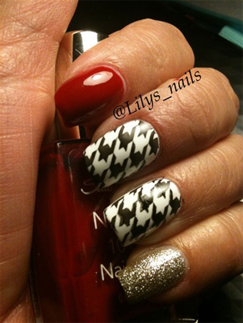 50-Best-Houndstooth-Nail-Art-Designs-Ideas-Trends-Stickers-Wraps-2014-9