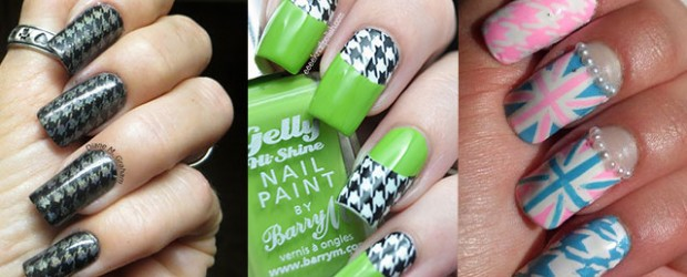 50-Best-Houndstooth-Nail-Art-Designs-Ideas-Trends-Stickers-Wraps-2014