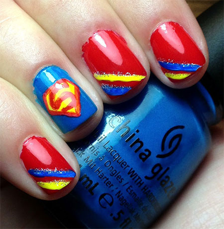 Amazing-Superman-Nail-Art-Designs-Ideas-Trends-Stickers-Wraps-2014-5