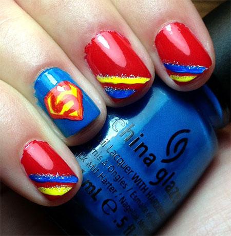 Amazing-Superman-Nail-Art-Designs-Ideas-Trends-Stickers-Wraps-2014-5