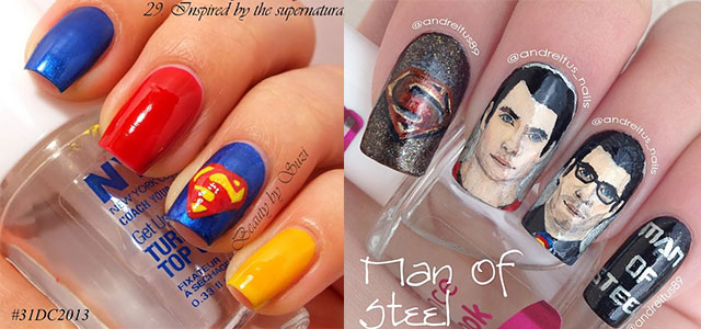 Amazing Superman Nail Art Designs Ideas Trends Stickers Wraps