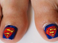 Cool-Superman-Toe-Nail-Art-Designs-Ideas-2014