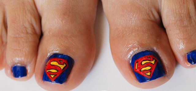 Toe Nail Designs Ideas 25 best ideas about summer toenail designs on pinterest summer toe designs toe designs and pedicures Cool Superman Toe Nail Art Designs Ideas 2014 Fabulous Nail Art Designs