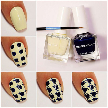 Easy-Houndstooth-Nail-Art-Tutorials-For-Beginners-Learners-2014-4