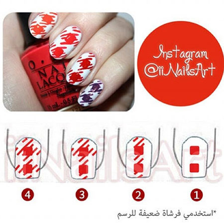 Easy-Houndstooth-Nail-Art-Tutorials-For-Beginners-Learners-2014-5