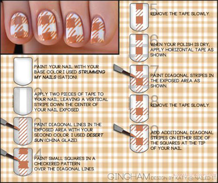 Easy-Houndstooth-Nail-Art-Tutorials-For-Beginners-Learners-2014-6