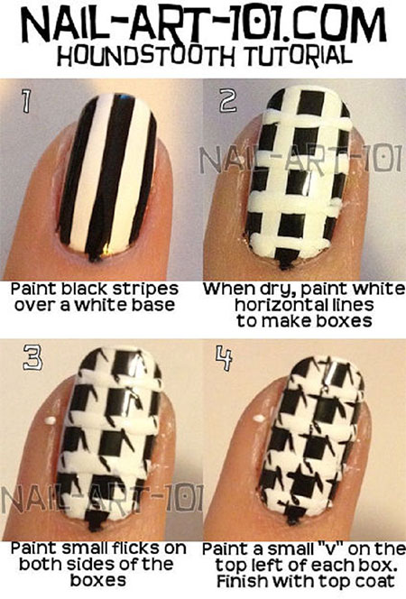 Easy-Houndstooth-Nail-Art-Tutorials-For-Beginners-Learners-2014-7