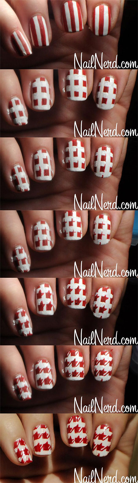 Easy-Houndstooth-Nail-Art-Tutorials-For-Beginners-Learners-2014-9
