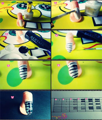 Easy-Piano-Keys-Nail-Art-Tutorials-For-Beginners-Learners-2014-2
