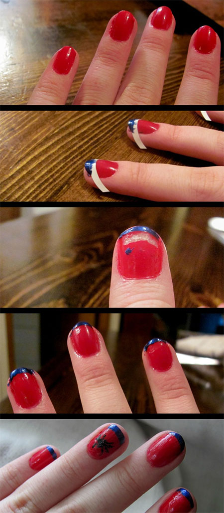 Easy-Spiderman-Nail-Art-Tutorials-For-Beginners-Learners-2014-2