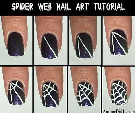 Easy-Spiderman-Nail-Art-Tutorials-For-Beginners-Learners-2014-4