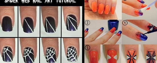 Nail art fabulous nail art designs easy spiderman nail art tutorials for beginners learners 2014 prinsesfo Choice Image