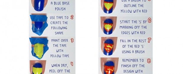 Easy-Superman-Nail-Art-Tutorial-2014-For-Beginners-Learners